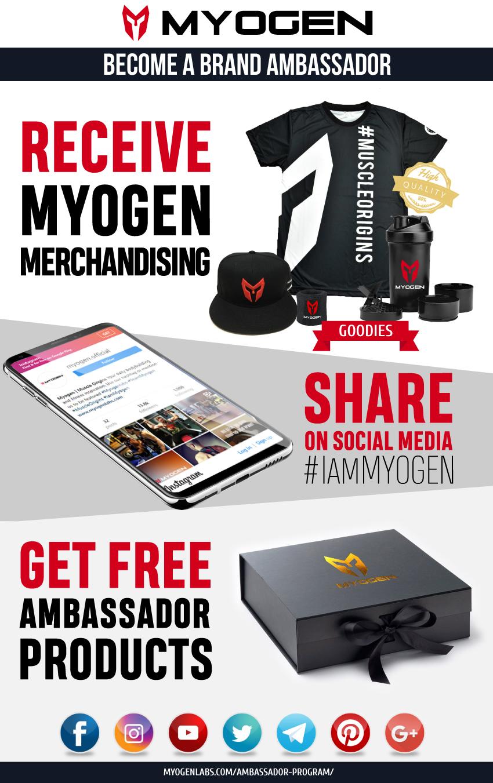 Conviértase en un embajador de la marca MyoGen y obtenga recompensas exclusivas